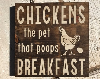 Chickens the Pet That Poops Breakfast.
