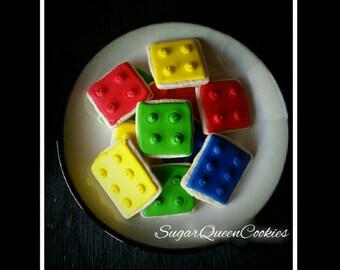 Lego block sugar cookies