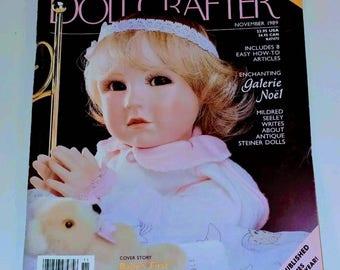 Doll Crafter Magazine November 1989 Porcelain Doll Pattern UNCUT Vintage