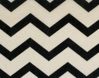 Edible Pattern Sheet, Black & White Chevron Wafer Paper