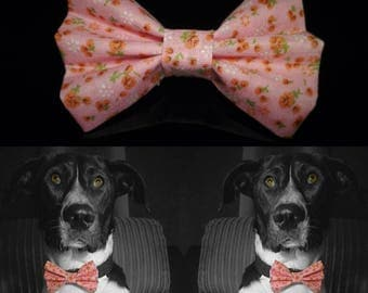 Roseflower Dog Bow Tie - Pink