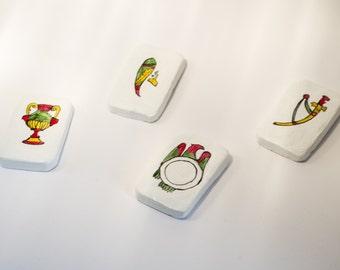 Ceramic powder magnets with Sicilian symbols