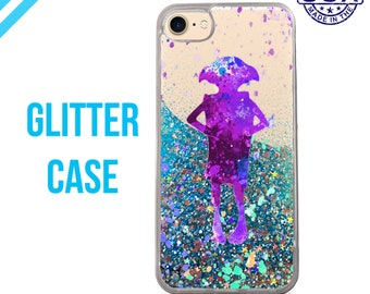 Dobby Watercolor Splatter Elf Harry Potter Liquid Glitter Case Sparkle Case iPhone 6 Plus iPhone 6s iPhone 6s Plus iPhone 7 iPhone 7 Plus