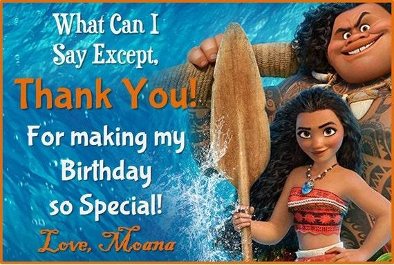 Moana Thank You Card