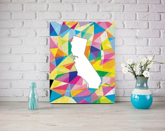 Abstract Art, California Poster, office / home Decor