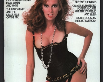 Mature Vintage Penthouse Magazine Mens Girlie Pinup : August 1980 VG+ White Pages Intact Centerfold