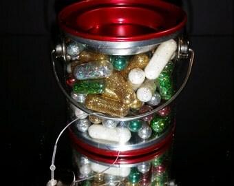 Christmas Glitter, Glitter Pill, Glitter Bulk, Glitter Ornament, Golden Anniversary, Gag Gift, Golden Glitter Pills, Raver, Glitter Pills