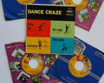 Five (5) Vintage 45 records