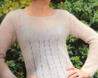 Ladies S - XL Lightweight Sweater Knitting Pattern