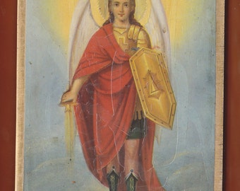 The Archangel Michael.Christian orthodox icon. FREE SHIPPING.