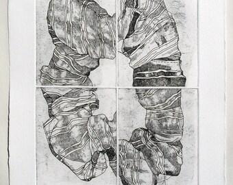 Scrunchie II - etching