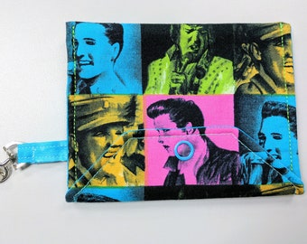 Elvis Fabric Snap Pouch