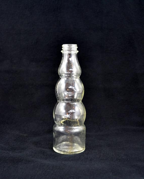 Vintage Clear Bottle Bubble Soda Bottle Pop