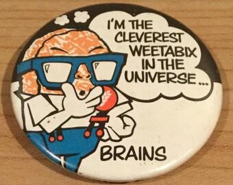 Vintage Weetabix Brains Badge