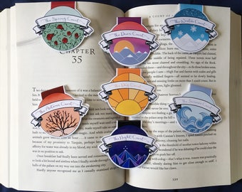 The Seven Courts Magnetic Bookmarks
