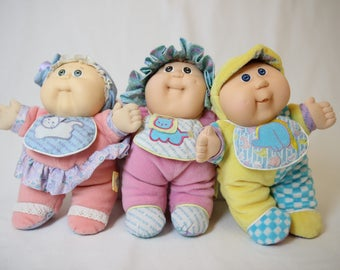 Doll patouf, baby patouf, patouf vintage, cabbage patch kid