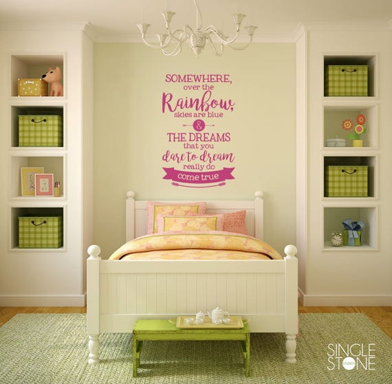 Somewhere Over the Rainbow Wall Quote by SingleStoneWallArt