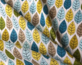 Cotton Fabric - Spring Leaf Cotton - Retro Style Cotton Fabric - Craft Material - Price per Metre