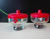 Flowered jam cups