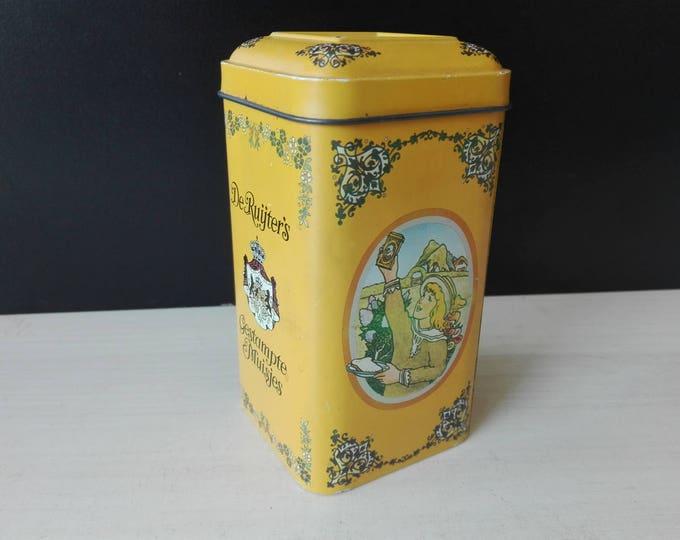 De ruijter gestampte muisjes, vintage tin