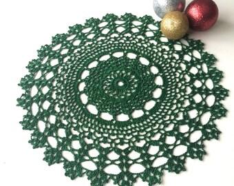 Crochet Doily - Green
