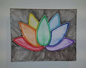 Chakra Lotus Watercolor