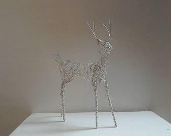 Silver Deer. Unique, handmade Wirework sculpture.