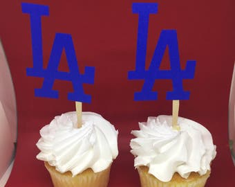 LA Dodgers Cupcake Toppers