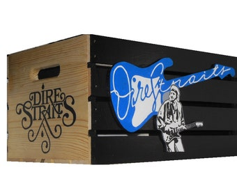 Dire Straits LP Vinyl Storage Hand Made by the Amish/ Hand designed and painted by Bill Schuler art 1 of 1