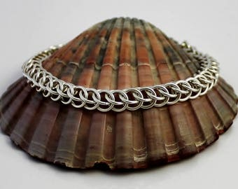 Sterling Silver Bracelet, Chainmaille Bracelet, Silver Bracelet, Sterling Bracelet, Chain Mail Bracelet, Chainmail Bracelet