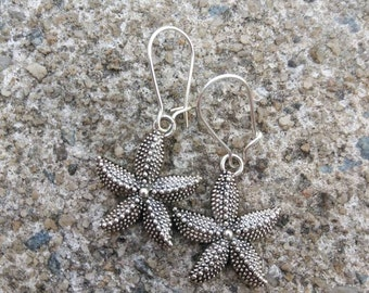 Starfish earrings - sea life jewelry - beach earrings - starfish charm earrings - gift for her - nautical earrings - dangle earrings