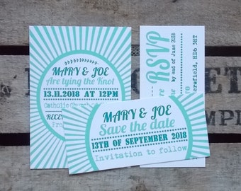 Rustic Vintage Wedding Invitations Vintage Set