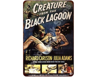 1954 Creature from the Black Lagoon Vintage Look Reproduction 8x12 Sign 8120568
