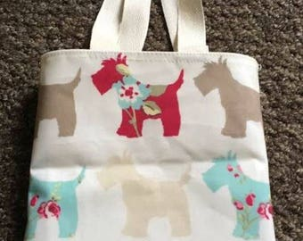 Kids Scottie Dog Oilcloth Tote Bag