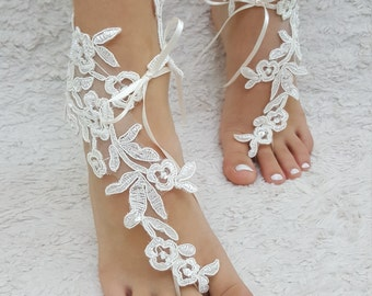 lace barefoot sandals beach barefoot lace barefoot pearly lace anklet frame lace anklet lace sandals beach lace shoe wedding barefoot