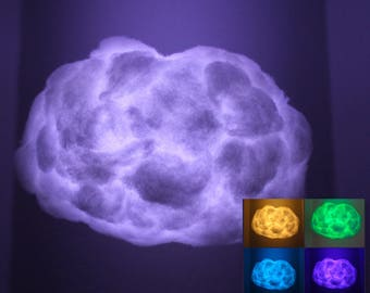 """18"""" Oval Bluetooth speaker Cloud Light, sound reactive, music sync, remote control, rainbow of colors, glow in the dark"""