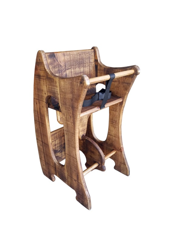 Rustic Finish High Chair Desk Rocking Horse 3 In 1 Amish