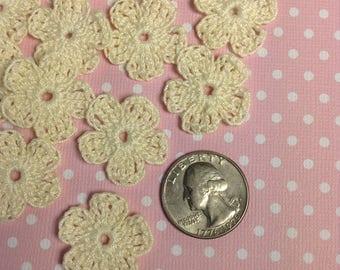 Tiny Flower Appliqués - set of 20 (#06-33B-4)
