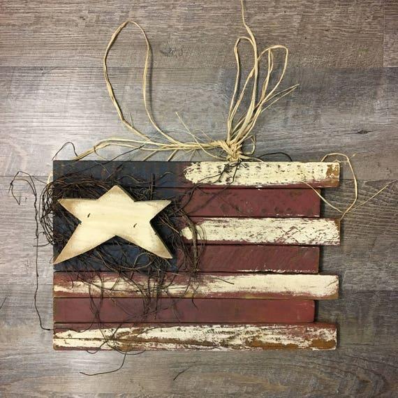 Hanging Lathe Americana Flag