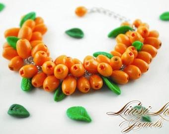 Berry bracelet - Sea Buckthorn berry bracelet.
