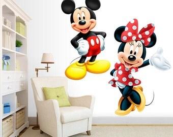 Mickey & Minnie Wall Decal Room Decor - Red