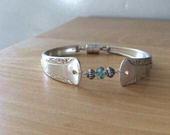 Camelia vintage spoon bracelet silver plated