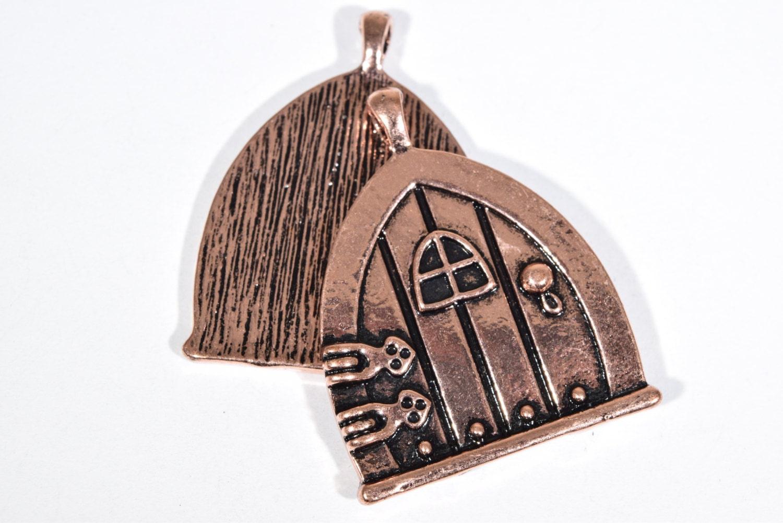 Sold by EnchantedCharmsEtc  sc 1 th 183 & 4 Copper Door Charms - Fairy Door Charms - Fantasy Door Charm ...
