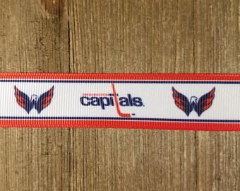 Washington Capitals 7/8 Inch Grosgrain Ribbon