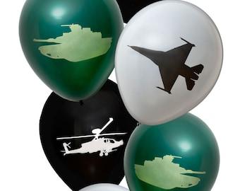 American Military Latex Balloons/ Army Tank Balloon/Army Themed Balloons/Military Theme Decorations/US Army Balloon Decorations