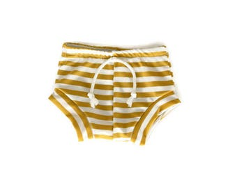 Mustard Stripe Shorts Baby Boy Clothing