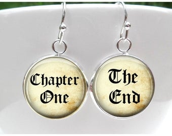 Book Reader Earrings - Back to school gift - Gift for Book Lover Book Worm, Librarian Gift