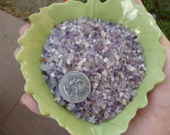 1/4 lb Amethyst Chip Stones, 3-5mm