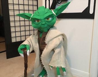 Star Wars Yoda figure life size  2.4 ft tall foam handmade