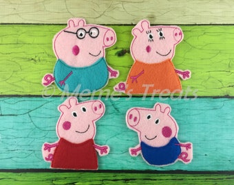 Set of 4 Finger Puppets - Inspired by children's TV show and books